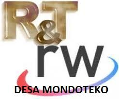 RT RW DESA MONDOTEKO